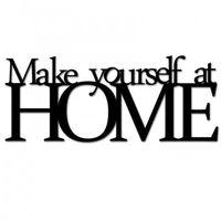 Dekosign Napis na ścianę make yourself at home czarny myah1-1