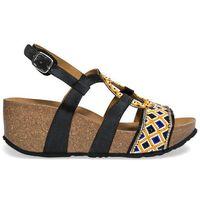 Desigual sandały damskie Bio9 Anissa Beads 40 czarny, kolor czarny