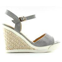 Sportowe sandałki na koturnie grey, kolor szary