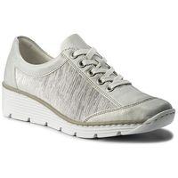 Rieker Sneakersy - 587p0-80 weiss kombi