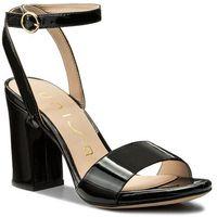 Sandały UNISA - Warhol Pa Black Patent, kolor czarny