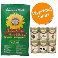 Pakiet próbny: 15 kg markus muhle + 6 x 400 g pakiet mieszany lukullus - rotwild z kaczką piżmową i jeleniem marki Markus mühle
