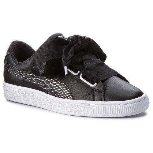 Sneakersy - basket heart oceanaire 366443 01 puma black/puma white marki Puma