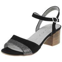 Sandały 17156 - czarne 19 + gad marki Nessi