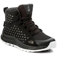 Botki THE NORTH FACE - Mountain Sneaker Mid Wp T939VXKY4 Tnf Black/Tnf White, kolor czarny