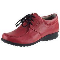 Półbuty Lesta 3825 - Czerwone, kolor czerwony