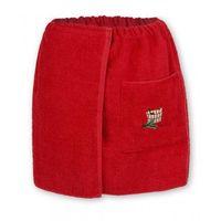 Sauna kilt ręcznik czerwony 100% bawełna męski 50*140 z logo, Produkcja własna