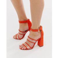 clear strap heeled sandals - orange, London rebel