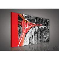 Obraz Czerwony pociąg na czarno-białym tle PP618O1, PP618O1