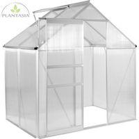 Plantasia ® Szklarnia ogrodowa aluminiowa 130x190x195cm 6mm