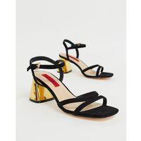 London Rebel mid heel sandals - Black