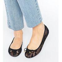 Asos lisa lace ballet flats - black marki Asos design