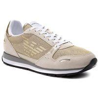 Sneakersy - x3x058 xl617 a272 off white/gold marki Emporio armani