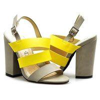 Sandały Monnari BUT0260-002 Yellow/Żółty/Szary lico