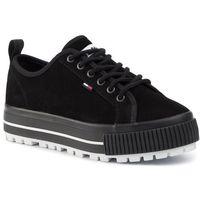 Sneakersy TOMMY JEANS - Wmns Cleated City Sneaker EN0EN00714 Black BDS
