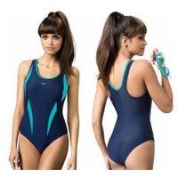 strój kąpielowy damski jednoczęściowy (granat/niebieski) (gw10185/3) marki Gwinner