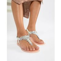 Miss kg dory embellished jelly flat sandals - beige