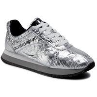 Sneakersy CALVIN KLEIN JEANS - Jill Metallic Crinkle R7806 Silver