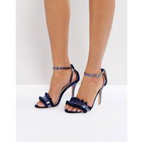True Decadence Frill Navy Barely There Heeled Sandals - Navy