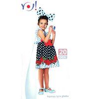 Rajstopy YO! art.RA 42 104-158 gładkie 20 den ROZMIAR: 128-134, KOLOR: ecru, YO!