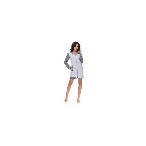 Szlafrok Damski Dn-nightwear SWB.9112 Grey Melange