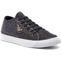 Sneakersy EMPORIO ARMANI - X3X054 XL487 K001 Black/Silver, w 2 rozmiarach