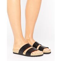 Monki Double Strap Sandals - Black, kolor czarny