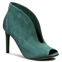 Szpilki CARINII - B3465 I64-000-000-B16, kolor zielony