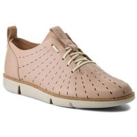 Półbuty CLARKS - Tri Etch 261325274 Nude Pink Leather, kolor różowy