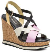Sandały TOMMY HILFIGER - Interwoven Pattern Wedge Sandal FW0FW04105 Pink Lavender 518, w 6 rozmiarach