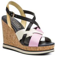 Sandały TOMMY HILFIGER - Interwoven Pattern Wedge Sandal FW0FW04105 Pink Lavender 518, w 7 rozmiarach