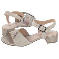 Sandały Caprice Beżowe 9-28203-22 155 Cream Comb (CP140-a), 9-28203-22 155