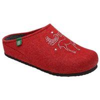 Kapcie 320539-4 czerwone pantofle domowe ciapy zdrowotne - czerwony marki Dr brinkmann
