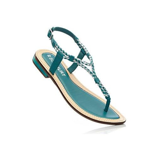 Sandały skórzane turkusowy, Bonprix, 35-42
