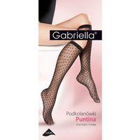 Podkolanówki puntina 508 rozmiar: uniwersalny, kolor: czarny/nero, gabriella marki Gabriella