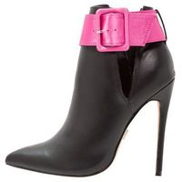 Lost Ink NOLA STRAP STILETTO Botki na obcasie black, 100111801007