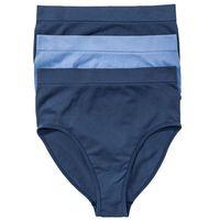 Bonprix Figi bezszwowe z wysoką talią (3 pary) niebieskozielono-kryształowy niebieski