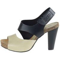 Nessi Sandały 42103 - czarno-beżowe