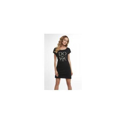 Koszula nocna Dolce Sonno - Tina - Czarna DWYL, kolor czarny