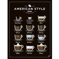 Plakat american style coffee - 30 x 40 cm marki Follygraph
