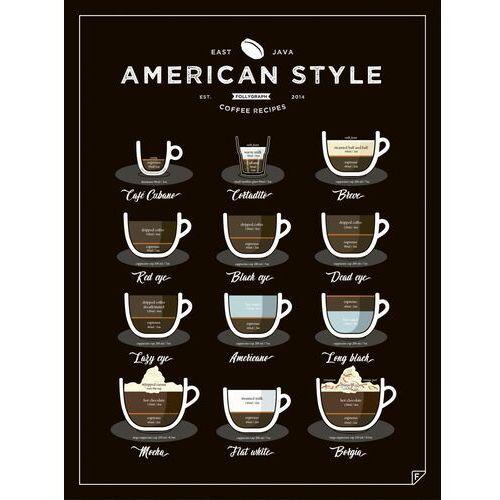 Gdzie kupić Plakat american style coffee - 30 x 40 cm marki Follygraph