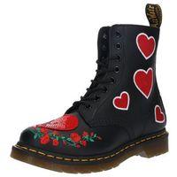 Dr. Martens Kozaki '8 Eye Boot Pascal Hearts' czerwony / czarny (0190665230765)