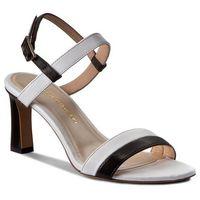 Sandały - w00098-7633-002 nappa czarna/biała marki Baldowski