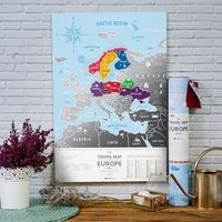 MAPA ZDRAPKA EUROPA Travel Map™ Silver Europe - MAPA ZDRAPKA EUROPA Travel Map™ Silver Europe