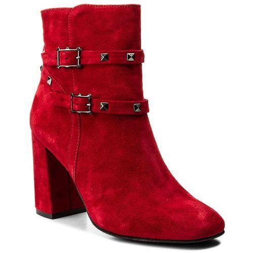 Botki - 17287/n czerwony w marki Nessi
