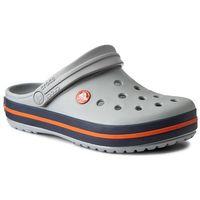Klapki - crocband 11016 light grey/navy marki Crocs