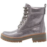 Timberland COURMAYEUR VALLEY YELLOW BOOT Botki na platformie dark grey shiny (0191164238108)