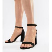 London rebel high block heel sandals - black