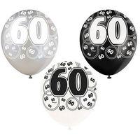 Balony lateksowe z nadrukiem 60 - mix - 30 cm - 6 szt. (0011179808977)