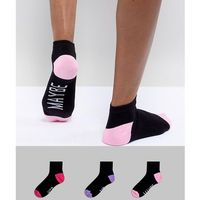 yes no maybe trainer sock 3 pack - multi marki Sock shop